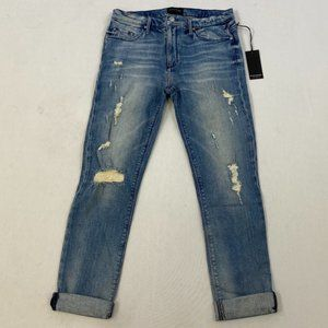 Black Orchid Ripped Blue Boyfriend Jeans